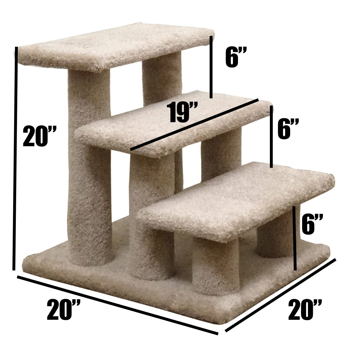 New Cat Condos Premier Post Stairs