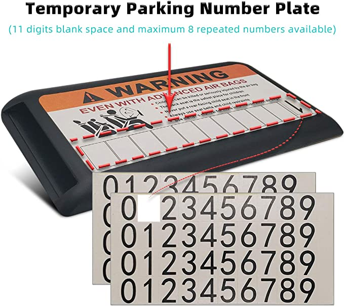 Naviurway Multifunction Car Sun Visor Organizer Car Parking Card Holder Universal Temporary Parking Phone Number Plate with No Smoking Car Sticker