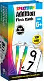 Spectrum - Addition Flash Cards - 100 Basic Arithmetic Cards, Plus Adding by 10 and 20 for 1st, 2nd and 3rd Grade Math…
