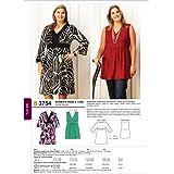 【KWIK SEW】大きいサイズ ドレスとチュニックの型紙セット サイズ:1X-2X-3X-4X *3754