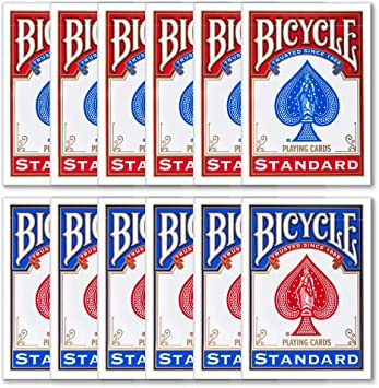 Caja de 12 Barajas BICYCLE (Antiguo Modelo) (6 Azules / 6 Rojas ...