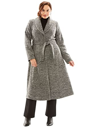 bad4eba2e60 Jessica London Women s Plus Size Long Swing Coat at Amazon Women s ...