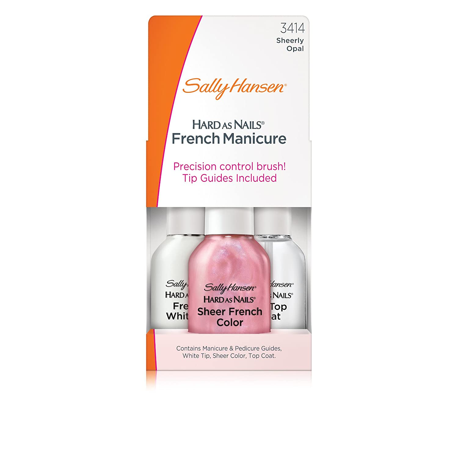 Sally Hansen Hard as Nails French Manicure, Sheerly Opal, 0.45 Oz, 2 ...