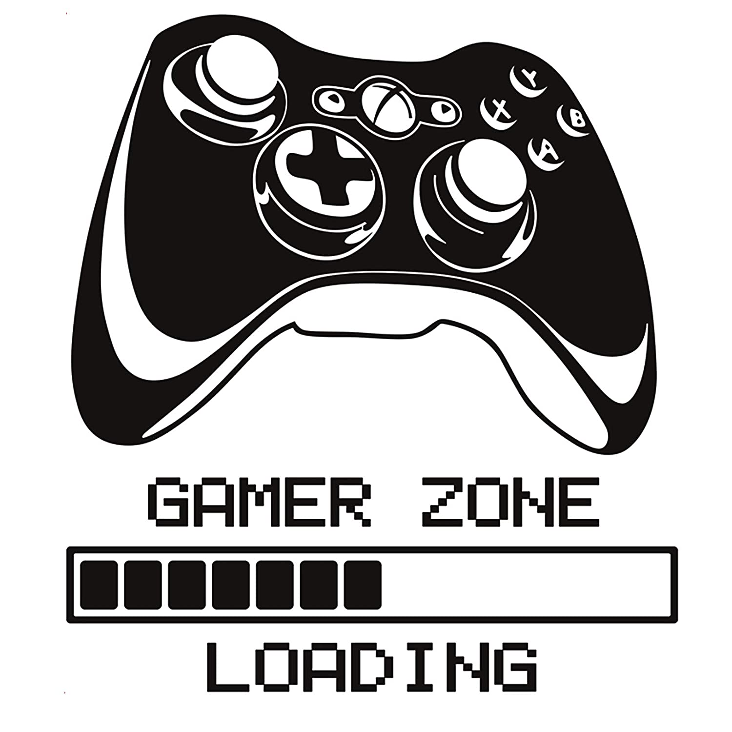 Gamer Controller Wall Decals-Posters for Boys Room,Gamer Room Decor for Boys Removable Art Vinyl Mural for Boys Kids Teens 04