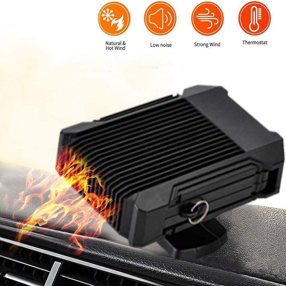 MASO 12V//24V 150W 2 in 1 Fast Heating /& Cooling Fan Defrost for Automobile Windscreen Defog /& Keeping Warm Portable Car Heater