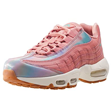best prices on feet shots of good Nike Air Max 95 Se Red Stardust, Damen Durchgängies Plateau ...