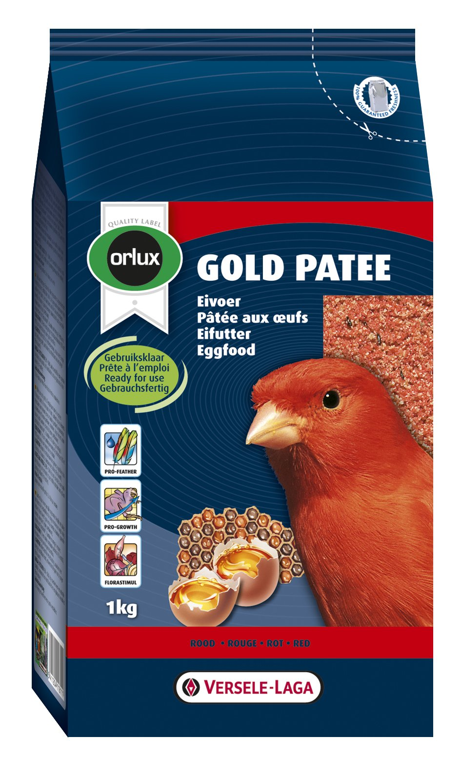 Nobby Orlux Gold Patee, 1 Kg, Red