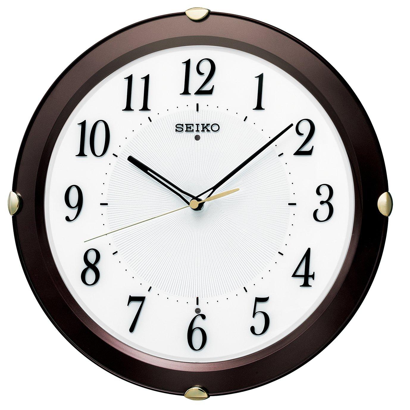 セイコー クロック 掛け時計 電波 アナログ 茶 メタリック KX211B SEIKO B014KIXN9C 茶 メタリック 茶 メタリック