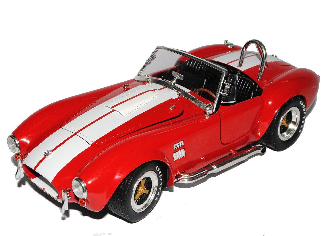 Shelby Ford AC Cobra 427 S/C Rot mit weißen Streifen Streifen weißen 1962-1968 1/18 Collectibles Modell Auto mit individiuellem Wunschkennzeichen dc1b40