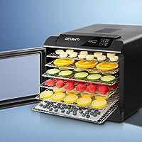 DEVANTi Food Dehydrators Commercial 304 Stainless Steel Beef Jerky Maker Fruit Dryer with 6 Trays