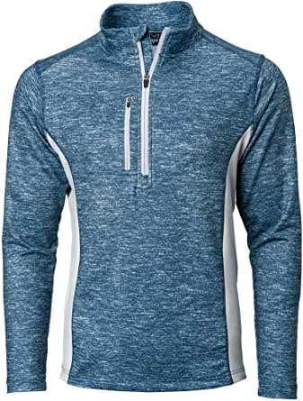 TGW Men's Heather Colorblock 1/4 Zip Golf Pullover