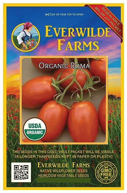 100 Floridade Heirloom Tomato Seeds Everwilde Farms Mylar Seed Packet