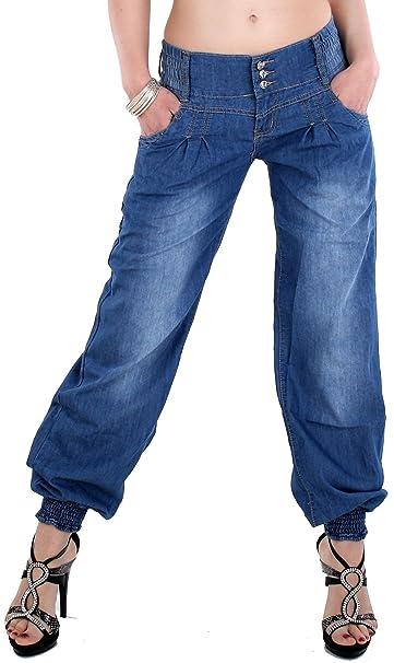 Pantalón de harén de mujer, pantalón holgado, Sarouel de Aladín, pantalones vaqueros 880