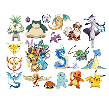 JIAHUI Nursery Decor Popular Characters Pokemon Xy Peel And Stick Wall Decal For Children Room
