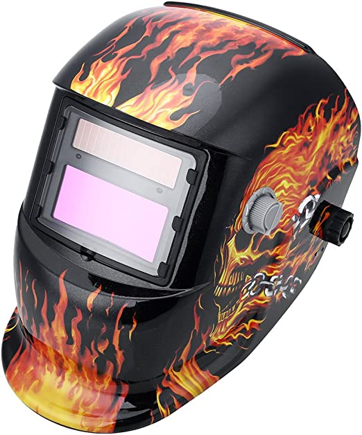 Solar Powered Welding Helmet Auto Darkening Hood with Adjustable Shade Range