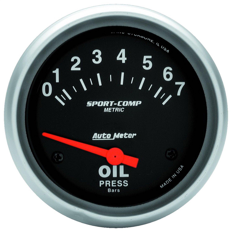 Auto Meter 3522-M Sport-Comp Electric Metric Oil Pressure Gauge