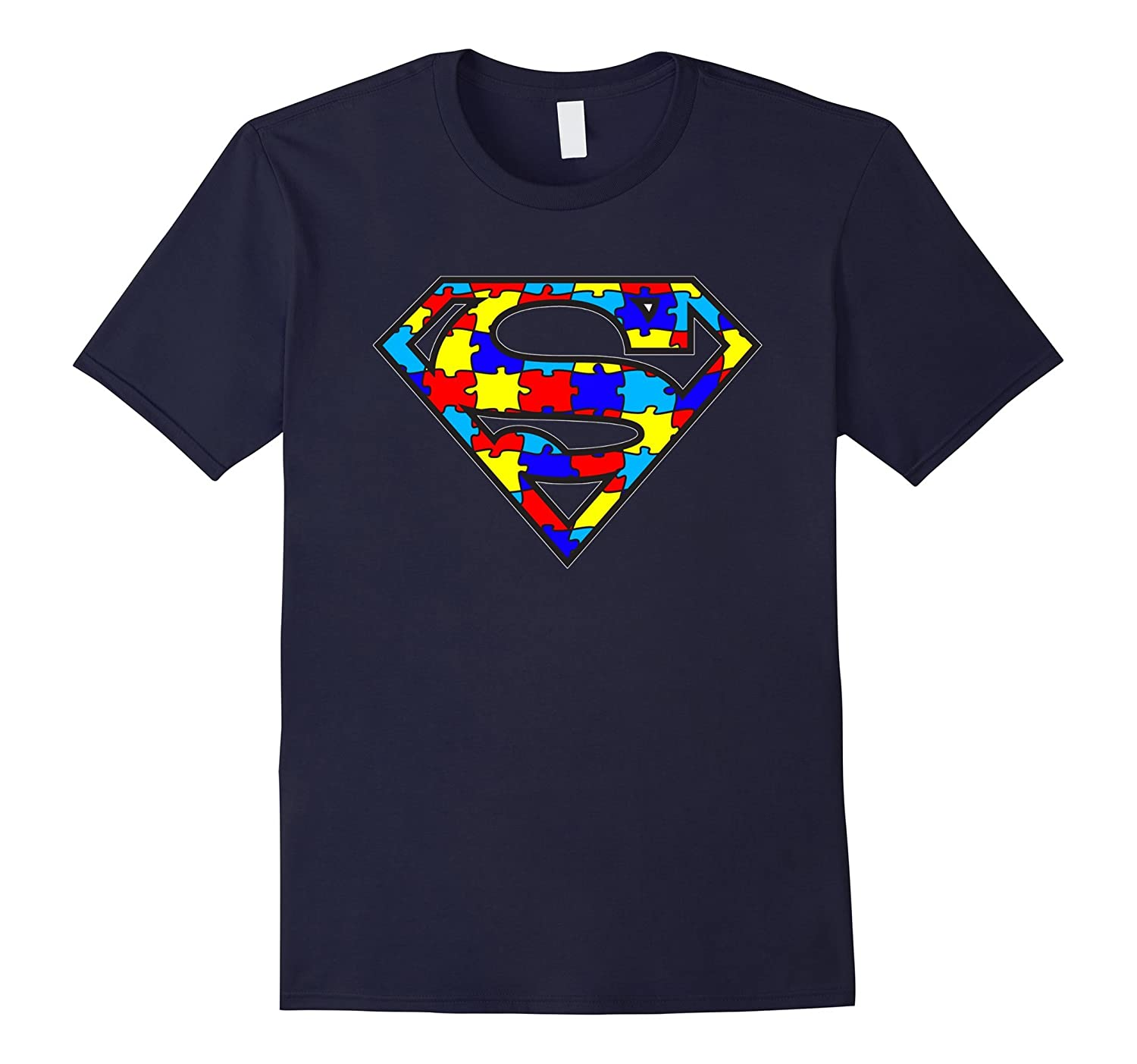 Autism Awareness Superhero T-Shirt for Kids Men Women-CD