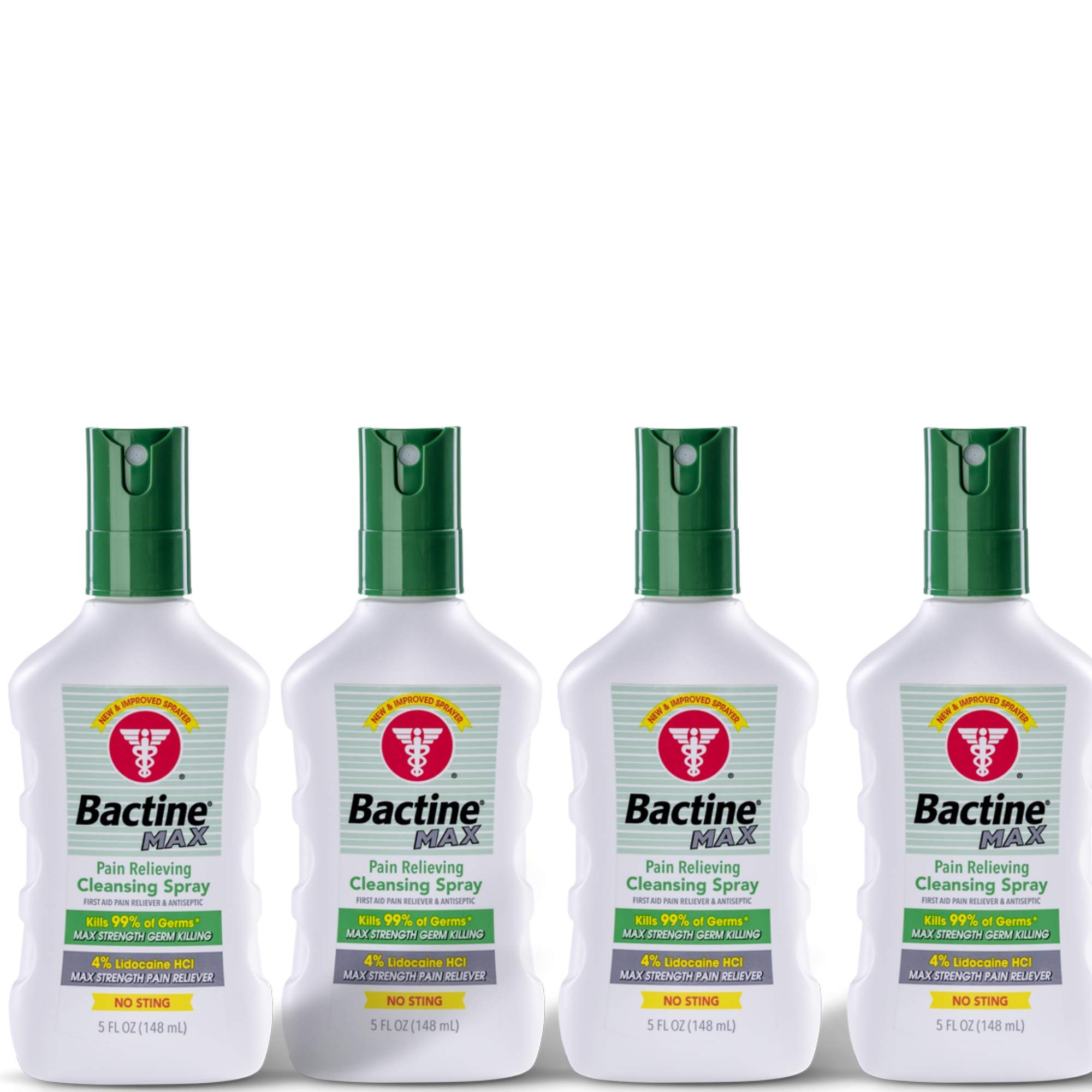 Bactine Max Pain Relieving Cleansing Spray 5oz (4 Pack)
