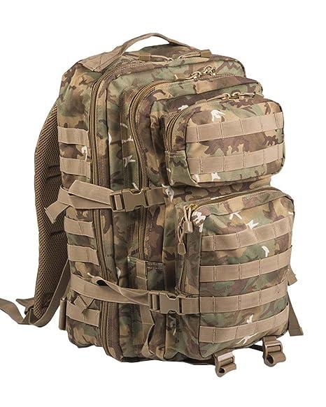 41115d69fba0 Mil-Tec Military Army Patrol Molle Assault Pack Tactical Combat Rucksack  Backpack Bag 36L Arid Woodland Camo