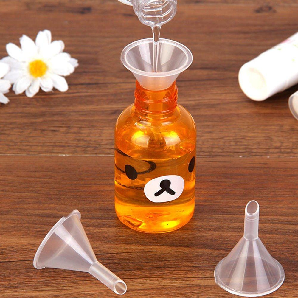 Baoblaze 4X Peque/ño Embudo Pl/ástico Met/álico con Palo Complimentos de para Esas Botellas Finas Estrechas Cuello Recipiente C/ómodo