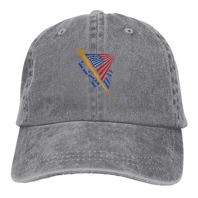 3230fd242c5 Amazon.com  Kkidj Ooii Flag Day America Cowboy Cap Unisex Adjustable ...