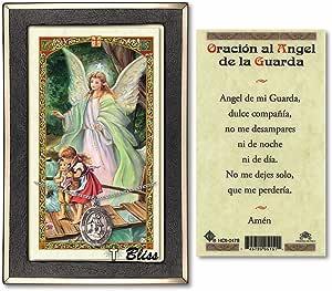 Bonyak Jewelry Guardian Angel Box and Pink Rosary