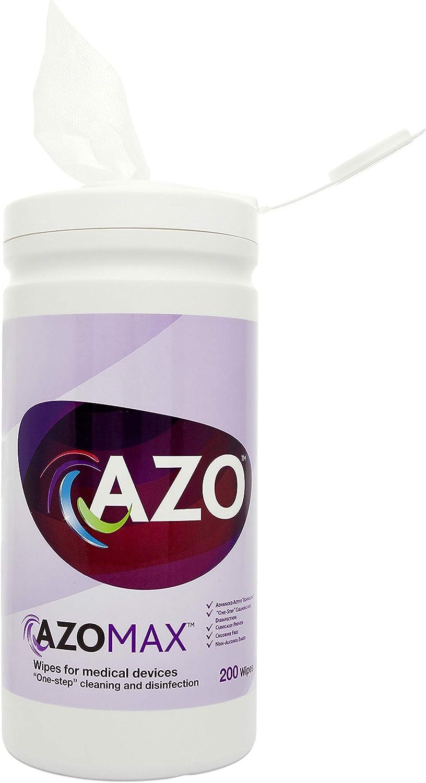 AZO Max Alcohol Free Hard Surface Wipes, Tube (200 pcs)