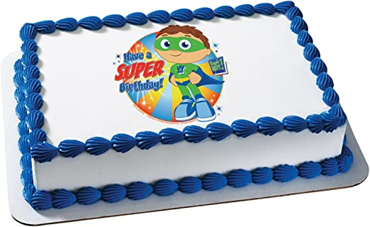 Awesome Deco Pac 206555 Super Why Super Birthday Edible Icing Cake Personalised Birthday Cards Paralily Jamesorg