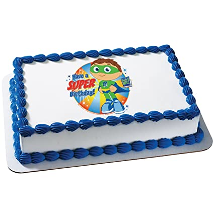 Amazoncom Super Why Super Birthday Edible Icing Cake Topper