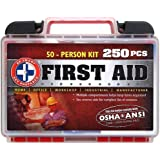"""Be Smart Get Prepared 250Piece First Aid Kit, Exceeds OSHA Ansi Standards for 50 People - Office, Home, Car, School…"