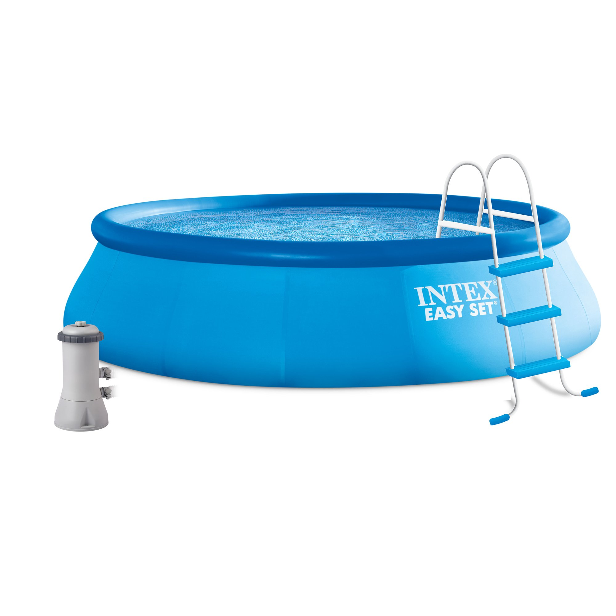 Intex 16' x 42'' Easy Set Above Ground Swimming Pool Kit w/ Filter Pump & Ladder