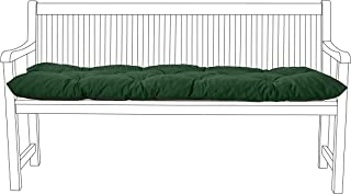 Shopisfy Outdoor Tufted 2 Seater Garden Dining Bench Seat Pad in Water Resistant Fabric. Made in the UK. (Green)