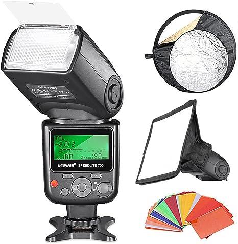 Neewer - Kit de reflector de flash profesional i-TTL para cámaras ...