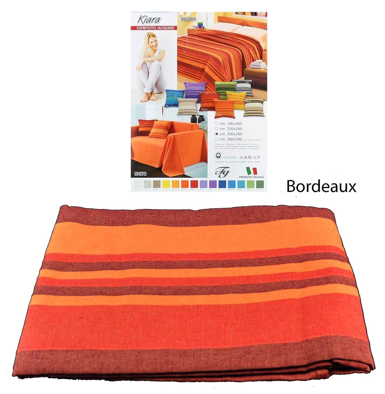 Casa Tessile Kiara Meubles Housse Canap Couvre Lit Cm 260 X Karpet Pp 260x360 Bordeaux Cuisine Maison