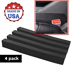 XCEL 4 Pack Car Gap Filler, Water and Weather Proof, Highly Dense and Flexible, Fits Most Vehicles, Seat Gap Filler Made in USA (4)