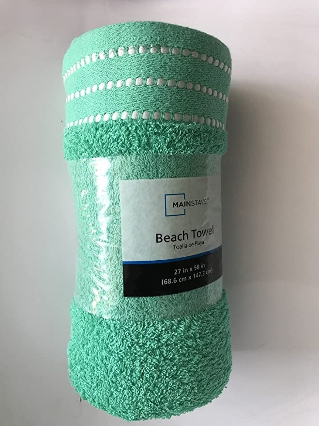 Amazon.com: Mainstays Beach Towel Mint Condition 27 in x 58 in: Home & Kitchen