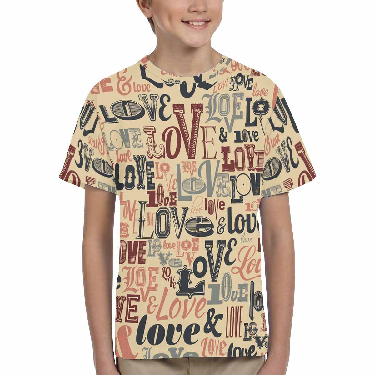 XS-XL INTERESTPRINT Kids T-Shirts Typographic Valentines Day Design