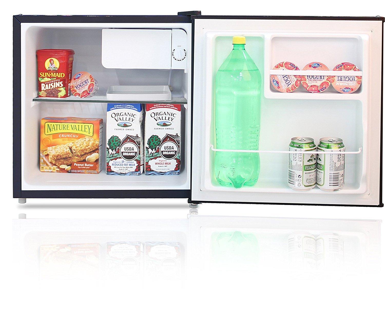 BESTEK Compact Refrigerator Energy Star Single Door 1.6 cu ft. Mini Fridge with Freezer - Wood Grain Finish (UL Listed) by BESTEK (Image #6)