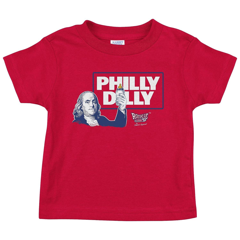 Smack Apparel ルーキーウェア フィラデルフィア 野球ファン向け Philly Dilly ワンジー (NB-18M) 幼児用Tシャツ (2T-4T)  2T