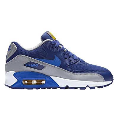 cheap for discount ad74f 38e56 Nike Air Max90 Mesh (GS) Baskets Enfant 724824-404-37.5-5 Bleu   Amazon.co.uk  Shoes   Bags