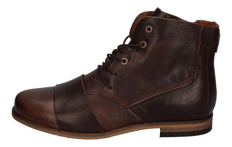 haghe by HUB Herrenschuhe Boots LOMU Dark Brown: Amazon