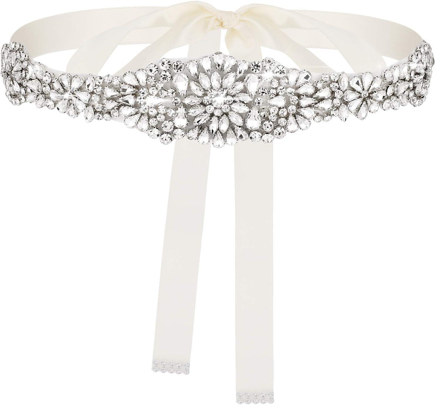 Amazon Com Geyoga Bridal Rhinestone Wedding Belt Crystal Dress