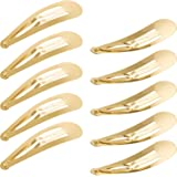Hotop 50 Pack Snap Hair Clips Hair Barrettes for Kids, Girls and Women, 50 mm (Gold)