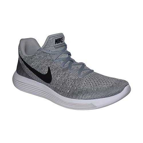 Nike Men s Lunarepic Low Flyknit 2 Wolf Grey Black Cool Grey Running Shoe 9 a58c63a91