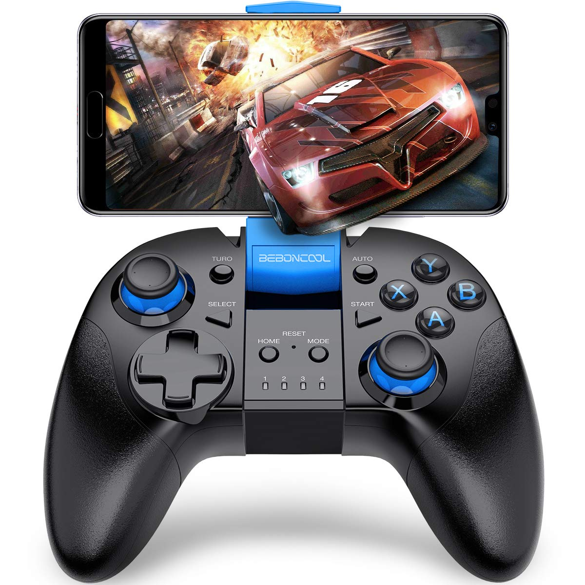 Wireless Game Controller, BEBONCOOL Android Controller Works with  Bluetooth, Android Gamepad Supports Samsung Gear VR/Android Phone/Tablet/TV