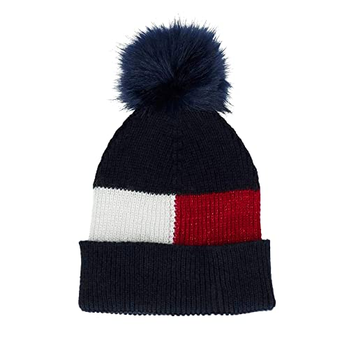 7c2374900cd Tommy Hilfiger Luxury Colour Blocked Navy Beanie  Amazon.co.uk  Shoes   Bags