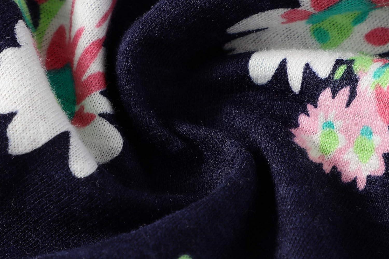 BIBNice Toddler Girls Cotton Dress Stripe Short Sleeves Casual Summer Shirt 18M-7Y