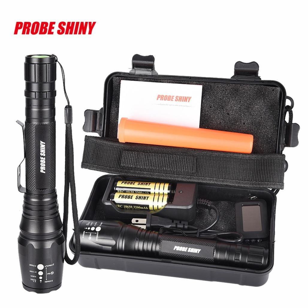 Flashlight, Bokeley X800 XML T6 LED Zoom Tactical Military Flashlight Super Torch Set