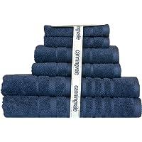 Canningvale Penthouse Suite 100% Cotton 6 Piece Towel Set - 2 Bath Towels, 2 Hand Towels, 2 Face Washers