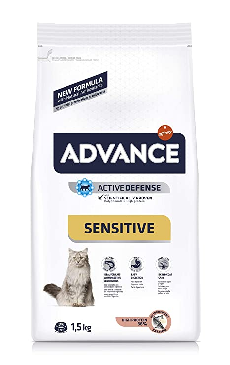Advance Cat Food - Salmón para gato y arroz (1,5 kg)